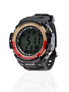 Zegarek męski na rękę beżowo-czerwony Denley 8352