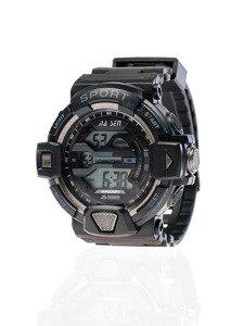 Zegarek męski na rękę czarno-grafitowy Denley 9985