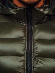 Zielona pikowana kamizelka męska z kapturem Denley 6506
