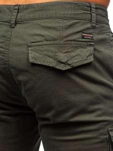 Zielone szorty krótkie spodenki męskie bojówki Denley 6134